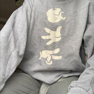 Other - Grey used sweater with Mickey Mouse hands